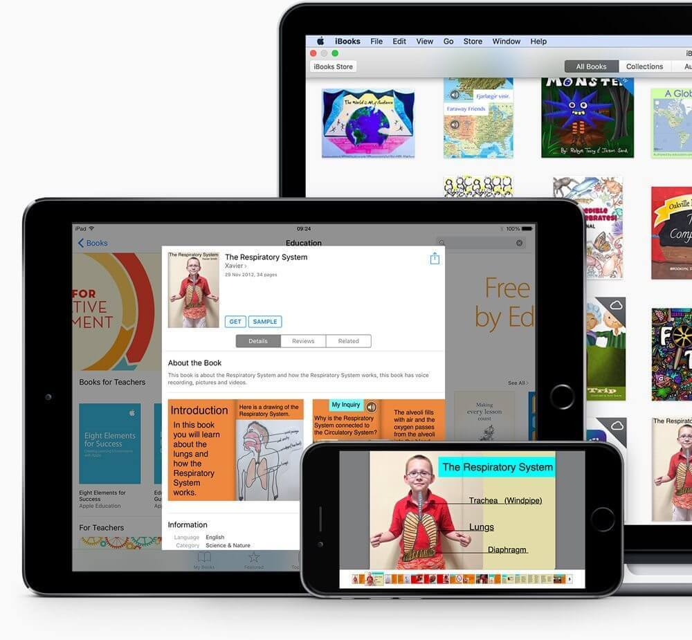 iBooks on various devices