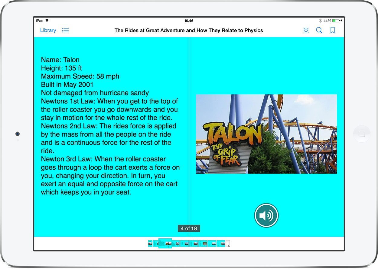 Viewing the book in iBooks