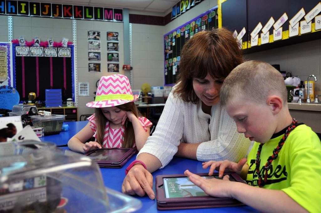 Sara Malchow in her classroom - source: Pulaski News
