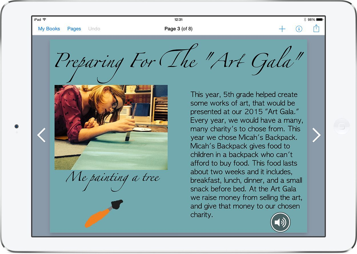 Example of an iBook Yearbook