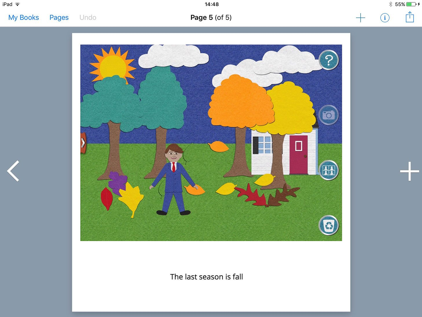 Adding pictures from the Felt Board app to Book Creator