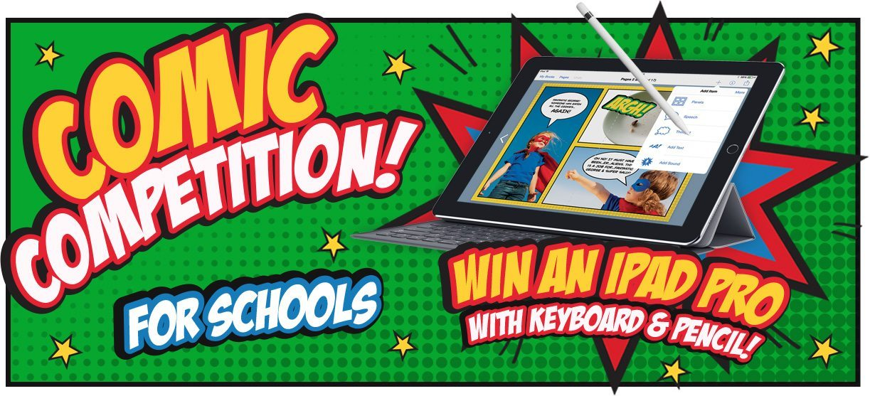 Comic competition for schools banner