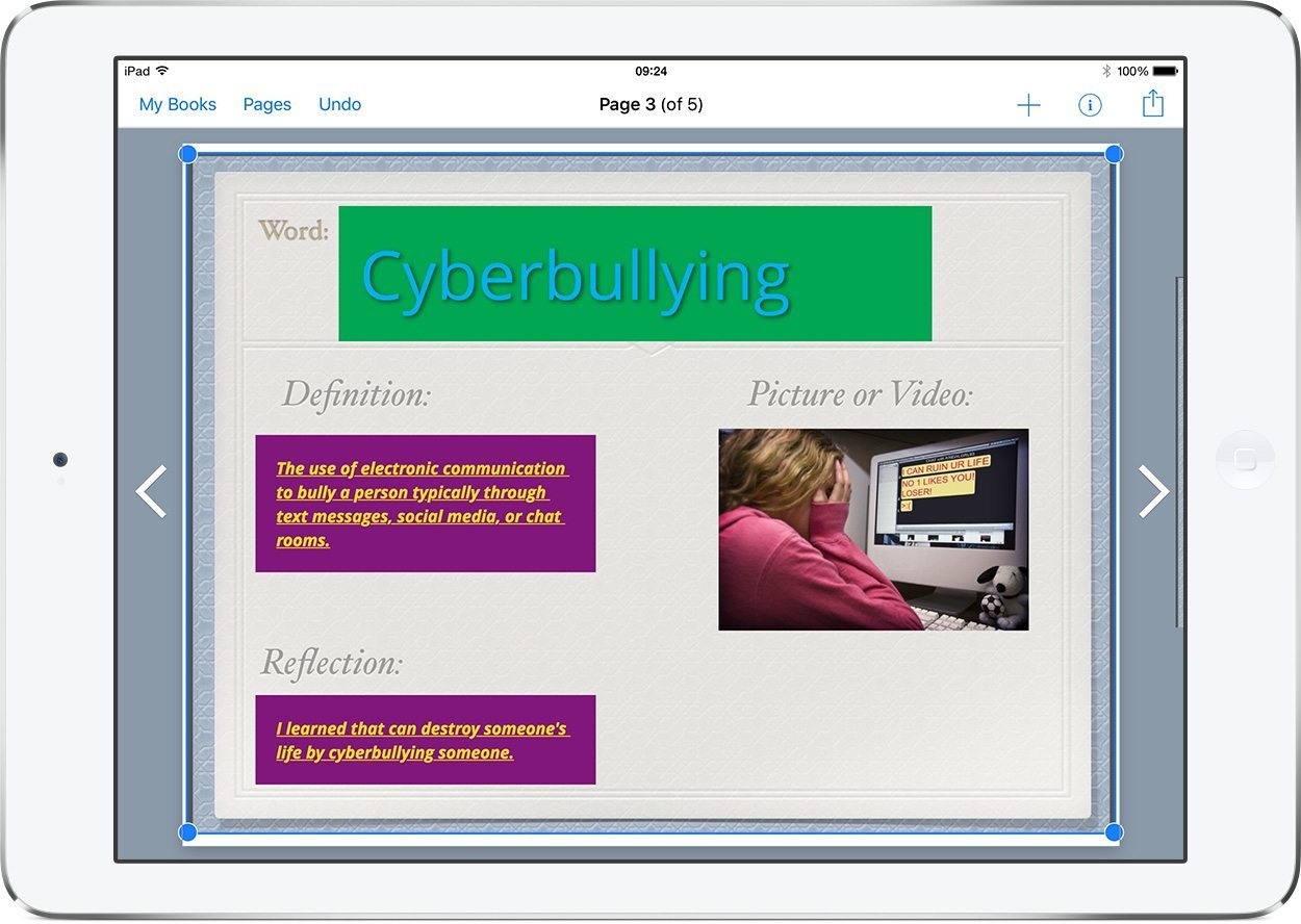 Cyberbullying - Book Creator screenshot