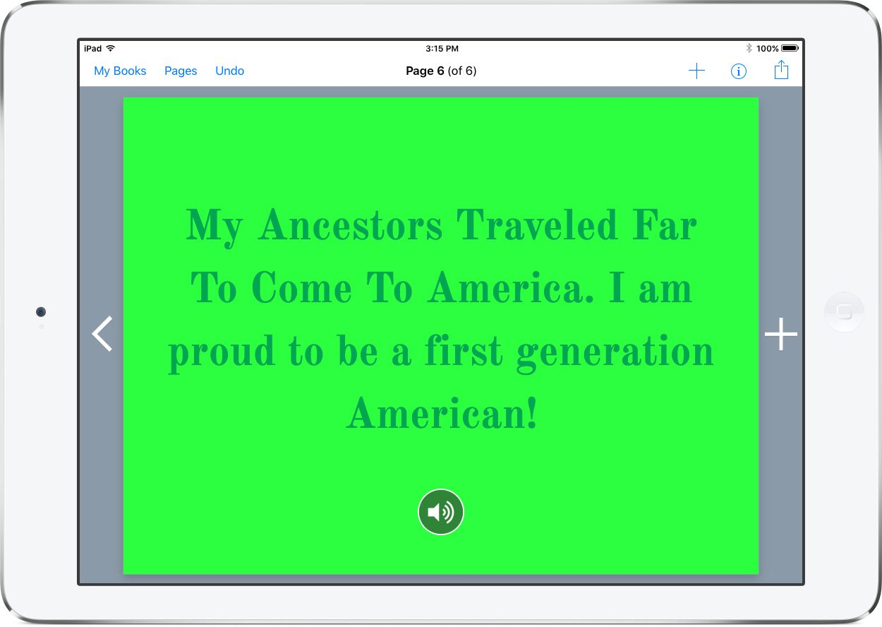 Heritage Book in Book Creator