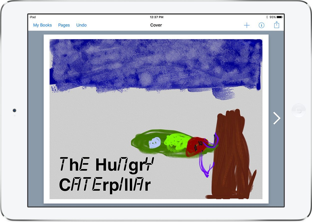 Hungry Caterpillar book in Book Creator