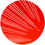 Red with lines