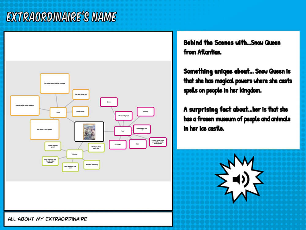Popplet example in Book Creator