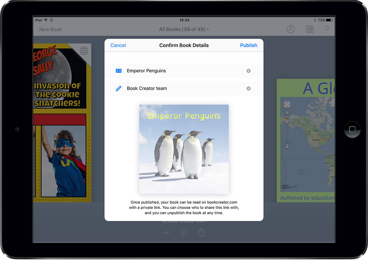 Publishing online with Book Creator