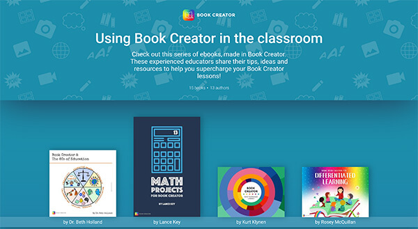 Using Book Creator in the classroom - screenshot of books on the shelf
