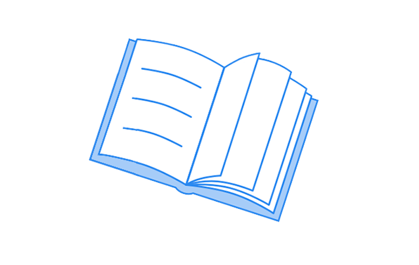Sketch of an open book
